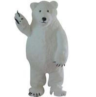 trajes por encargo para la venta al por mayor-2018 venta directa de Fábrica Por Encargo Blanco Mascota Oso Polar Mascota del Oso Blanco Personalizado