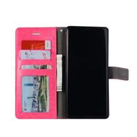 invólucro para s3 venda por atacado-Carteira Case Capa Caso PU carteira de couro de telefone para Samsung Galaxy S6 S7 Borda Mini S4 S3 S5 A5 Para iPhone X 8