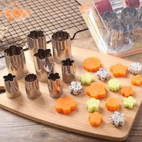 Wholesale tool dies resale online - Eco Friendly Set Cookie Fondant Cake Cutting Mold Stainless Steel Fruit Vegetable Embossing Dies Pastry For Baking Tools