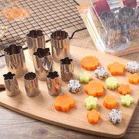 formwerkzeugsätze groihandel-Umweltfreundliche 8 teile / satz Cookie Fondant Kuchen Schneidform Edelstahl Obst Gemüse Prägestempel Gebäck Für Backenwerkzeuge