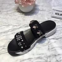 Wholesale fringe sandals - hot sale Fringe women Canvas Slippers Summer shoes Slides Slip-resistant beach slippers Flip Flops sandals size34-41