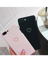 Wholesale love iphone couple for sale - Group buy New Men Women Sweet Love Heart Couple Frosted Hard Back Cover Cute Case for iPhone Lovely Cases Funny Phone Cover