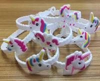 erkek kız takılar toptan satış-Çocuk Charm Benzersiz Unicorn Bilezikler Kız Erkek Doğum Günü Partisi çantası dolguları Çocuklar Bebek Silikon Bileklik Çocuk Oyuncak ...