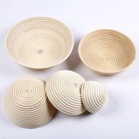 Wholesale bake bread - Durable Round Rattan Basket Banneton Brotform Bowl Bread Proofing Proving Baskets For Kitchen Baking Tools Many Size 25xx7 C RZ