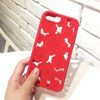 Wholesale huawei 3d silicone case for sale - Group buy Fashion D Rose Hollow Phone Cases For Iphone X Elegant Roses Flower Soft Silicone TPU Back Cover For Iphone XR XS MAX