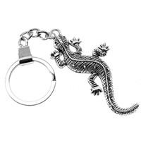 kertenkele yüzükleri toptan satış-6 Parça Anahtarlık Kadın Anahtarlıklar Araba Anahtarlık Tuşları Gecko Lizard 71x30mm