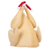 lustige partydekorationen großhandel-Truthahn Hut Party Festival Kostüm Caps Weihnachten Thanksgiving Day Lustige Plüsch geröstete Türkei Hut Samt Weihnachten Caps Hüte