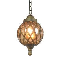 ingrosso luci di uve esterne-New Outdoor lampada a sospensione balcone corridoio cortile impermeabile lampada a sospensione villa gazebo uva cremagliera parco Sospensione Luce NO32