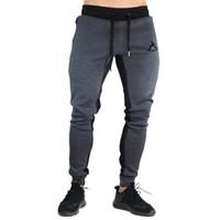 Wholesale Cargo Bottoms - 2018 Men's AthleticPants Workout Cloth Sporting Active Cotton Pants Men Jogger Pants Sweatpants Bottom Legging