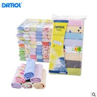 Wholesale Wholesale Cartoons Face Towel - 8 Pack Baby Washcloths 2018 Boys and Girls Bath Face Towels 100% Cotton Cartoon Feeding Bibs Newborn Baby Infant Toddler Baby Nursing Towels