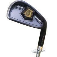 carbon golfschläger großhandel-New Golf clubs George spirits Geschmiedet Carbon Steel Golf bügeleisen set 4-10 bügel Clubs Set Stahl Golf welle Griffe Kostenloser versand