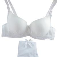 новые стили нижнего белья оптовых-Women Underwear Set Sexy Lace Embroidery Push Up Padded Underwire Bra Suit Outfits New Style