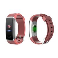 браслеты оптовых-Цветной экран Smart Bracelet Водонепроницаемый монитор сердечного ритма Фитнес-следящий браслет GDeals