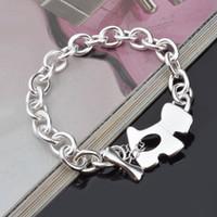 Wholesale led bracelet accessories for sale - Plated Silver The dog accessories Bracelets Women Silver Bracelets Jewelry Leading Shrimp Buckle Bracelet Round Chain Bracelet S57