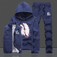 Wholesale custom designed clothes resale online - Design Custom Xxxxl Hoodies Sweatshirt Men Hoodies Men Track Suit Jacket Vest Pants Men Clothing Set Sportsuit Joggers Mens Ms001