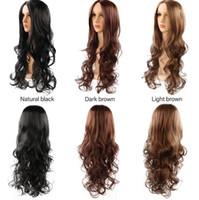 ingrosso parrucche delle bambole del sesso-Modelli di esplosione Europa e America parrucche donne parrucca capelli multi-colore medio e capelli lunghi parrucche bambola del sesso