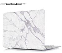 macbook laptop branco venda por atacado-NOVO Padrão de mármore colorido Hard Case Capa para Macbook White 13
