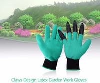 ingrosso disegni di giardino blu-2018 New Blue Garden Guanti 1 Paia Unisex In Lattice Uomo Donna Giardino Lavoro Guanti Artigli Design In Lattice Lavoro Per Scavare Piantare D ...
