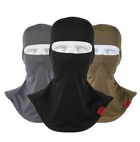 equipo de casco táctico al por mayor-Máscaras pasamontañas calientes Tactical Motocicleta al aire libre Casco Ciclismo Cap Head Cover Ski Snowboard Gear Esquí Proteger máscara completa