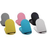 Wholesale universal smartphone holder for sale – best Universal Foldable Adjustable Plastic Desktop Lazy Stand Holder Folding Bracket Mini Holder Mount For Samsung S9 iphone X HTC Smartphone