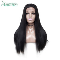Wholesale synthetic wigs for sale - Fairgreat inch Long Straight Synthetic Lace Front Wigs For Women Natural Looking Hair Wigs For Black Women