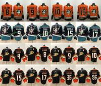 blank hockey jersey toptan satış-2019 Anaheim Ducks # 10 Corey Perry Hokey Formaları 9 Paul Kariya 8 Sezon 15 Selanne 15 Ryan Getzlaf 17 Ryan Kesler 96 Charlie Conway Blank