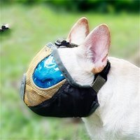 Wholesale Mouth Muzzles - Mask Breathable Nylon Dog Muzzle Supplies Anti Bite Chew Stop Barking Dogs Traning Mouth Bulldog Pug Shar Pei Mesh Short Snout Pet 25dm V