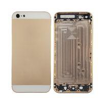boîtier arrière de l'iphone 5g achat en gros de-Couverture arrière de cadre de porte de logement de batterie en métal pour des pièces de réparation de rechange de l'iPhone 5 5G 5S SE