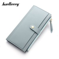 kore tarzı cüzdan toptan satış-Baellerry 2017 Fashion Women Wallet Korea Style Zipper & Hasp Bifold Card Holder PU Leather Wallets Women's Clutch Long Purse