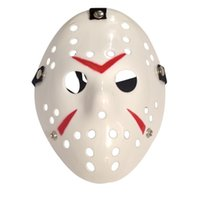 Wholesale Horror Film Face Masks - Halloween Cosplay Costume Porous Mask Jason Voorhees Friday The 13th Horror Movie Hockey Full Face Mask