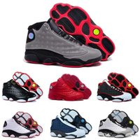 Wholesale famous leather basketball shoes for sale - Group buy With Box Famous Trainers XIII s Hologram Men s Sports Basketball Shoes Barons white black grey teal US