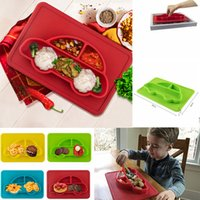 Wholesale plastic table mats - Baby Silicone Car Feeding Plate Suction Food Meal Table Mat Pad Table Bowl Toddler Infant Kids Candy Color Dishes AAA367