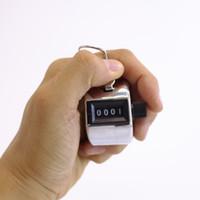 contador manual de números al por mayor-Práctico Mini Digital Mano Tally Metal Machanical 4 dígitos Manual Presionando Número Clicker Golf Counter Alta calidad 3 6tt Z