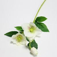 Wholesale latex flower for wedding decorations resale online - Wedding Silk Heads Branch Artificial Silk Flowers Decoration Fresh Artificial Flowers Latex Roses for Wedding Bouquet Decoration