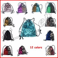 Wholesale panel 42 for sale - Glitter Mermaid Sequins Cosmetic Bag Backpacks Drawstring Portable Glittering Shoulder Bag Outdoor Bag Gym Sport Sack Makeup Bags cm