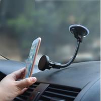 universal-schwanenhals-telefonhalter groihandel-Universal Mobile Phone Armaturenbrett / Windschutzscheibe Auto Lange Gooseneck Magnethalter Stativhalterung für GPS-Smartphone Handy