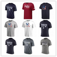 Wholesale baseball long sleeves - 2018 BEST BASEBALL MEN T-SHIRT New York Yankees AC Legend Team Judge Romine Gregorius Jeter Sanchez Severino Outdoor T-Shirts