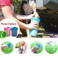Wholesale Paw Foot - Pet Foot Washer Cup Dog Paw Cleaner Puppy Foot Wash Tools Soft Gentle Silicone Bristles Pet Brush Quickly Clean Paws Muddy Feet BBA280