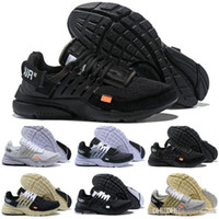 Wholesale shoelace new for sale - 2018 new Presto Shoes White Men And Women Running Sneakers Air Cushion Off Casual Designer Sports Shoes color shoelaces