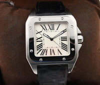 Wholesale mens skeleton watches sale for sale - Group buy hot sale mens watch Automatic Mechanical White Dial Silver Skeleton Leather strap Square dial watch Monor Hemmo