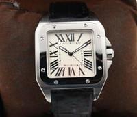 квадратные мужские часы механические оптовых-Горячие продажи мужские часы Автоматические Механические Белый Циферблат Серебряный Скелет Кожаный ремешок Квадратный циферблат часы Monor Hemmo бесплатная доставка