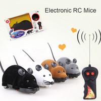 drop ship mouse wireless achat en gros de-Drop Shipping Chat Jouet Souris Sans Fil Télécommande Souris Électronique RC Souris Jouet Animaux Chat Jouet Souris Pour Enfants Jouets Livraison Gratuite