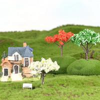 ingrosso bonsai trees-Mini Tree Fairy Decorazioni da giardino Miniature Micro Paesaggio Resina Artigianato Bonsai Figurine Giardino Terrario Accessori BH236