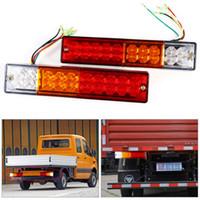 Wholesale led 24v trucks - 2pcs Trailer lights LED Stop Rear Tail Brake Reverse Light Turn Indiactor led 12V 24V ATV Truck led Trailer taillights Lamp