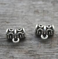 Wholesale tibetan style necklace wholesale - 30pcs lot--Beads, Bail Beads, Pendants,Charms,Antique Tibetan Silver Perfect for European Style Bracelets or Necklaces 11X9mm
