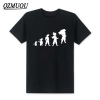 Wholesale evolution shorts - 2018 New Fashion Dragon Ball Z Son Goku T Shirts Goku Evolution T Shirt Men Cotton Short Sleeve O-neck Saiyan Boy Top Tee S-XXXL