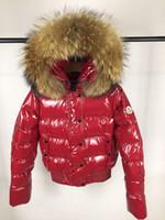ingrosso anatra le marche di cappotto-Cappotto invernale caldo invernale con cappuccio in volpe argentata
