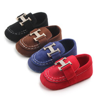 Wholesale walker classic online - Newborn Baby Boys Classic Handsome First Walkers Shoes Baby Infant Toddler Soft Soled Shoes color selection