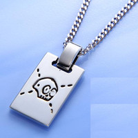 Wholesale 18k yellow gold solitaire jewelry for sale - Couple skull pendant Ghost Taro necklace s925 sterling silver necklace pendant female Europe and America new sterling silver jewelry