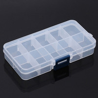 Wholesale component storage boxes for sale - Group buy 10 Lattice Manicure Box Component Container Part Case Removable Jewelry Cases Medicine Containers Plastic Storage Boxes lw gg